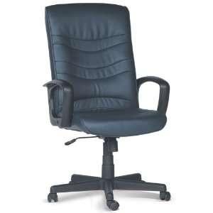 Karma High Back Leather Executive Chair (0634 Blue) (48H