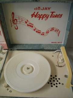DeJay HAPPY TUNES Portable Record Players Phonographs SP 22P SP 11