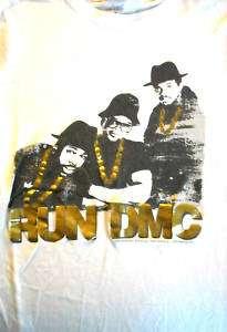 RUN DMC T shirt juniors large Hollis Queens rap hip hop