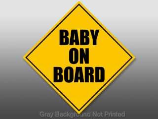 Baby On Board Car Rear Window Decal   sticker safety