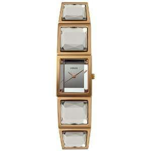 Guess Crystal Rose Gold tone Bracelet watch Rectangular Bezel Silver