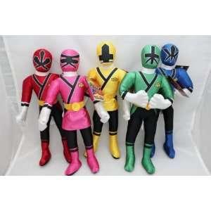15 Power Rangers Samurai Blue Action Figure Plush Doll 5