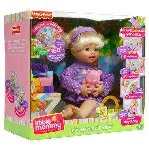 Fisher Price Little Mommy My Very Real Baby Doll 150+ Actions Phrases