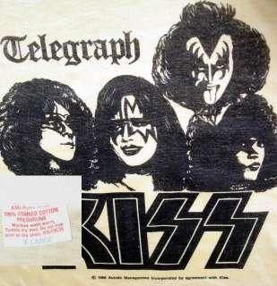 1980 Aucoin Mgt KISS ARMY Rock Concert TELEGRAPH Tour vtg NOS