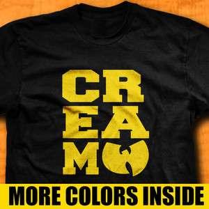 Wu Tang Clan CREAM T Shirt RZA GZA ODB Method Man Tee