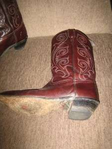 TONY LAMA Womens Full Leather Western Boots Size 10B Style VL1981