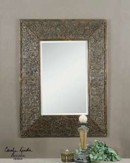 Knotted Rattan Rectangular Beveled Wall Mirror