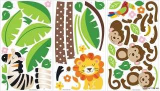 & Palm Tree Lion Zebra Wall Sticker Decals for kids room