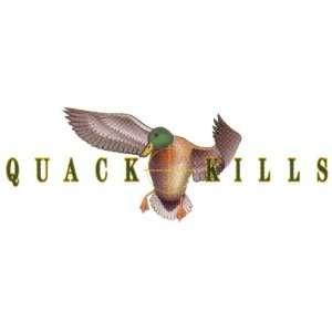 Rich n Tone Quack Kills Duck Hunting Decal: Sports